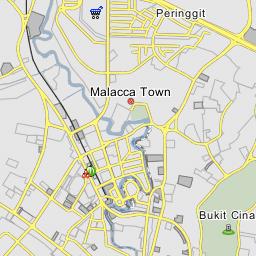 Malacca On World Map.World Heritage Site Core Zone Bandar Melaka