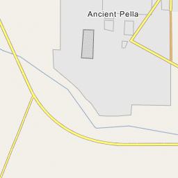 Pella Greece Map.Ancient Pella