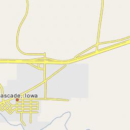 Cascade Iowa Map.Cascade Ia